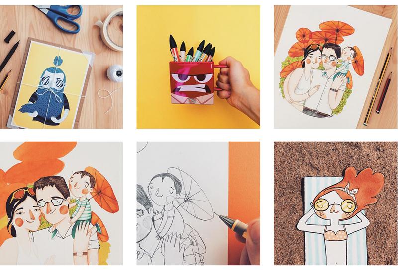 Profile rysownikow Instagram