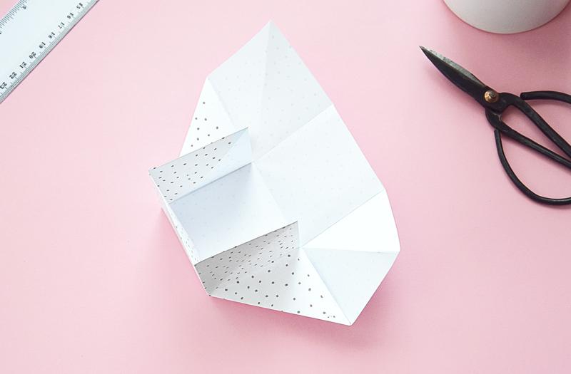 pudelko z papieru jak zrobic