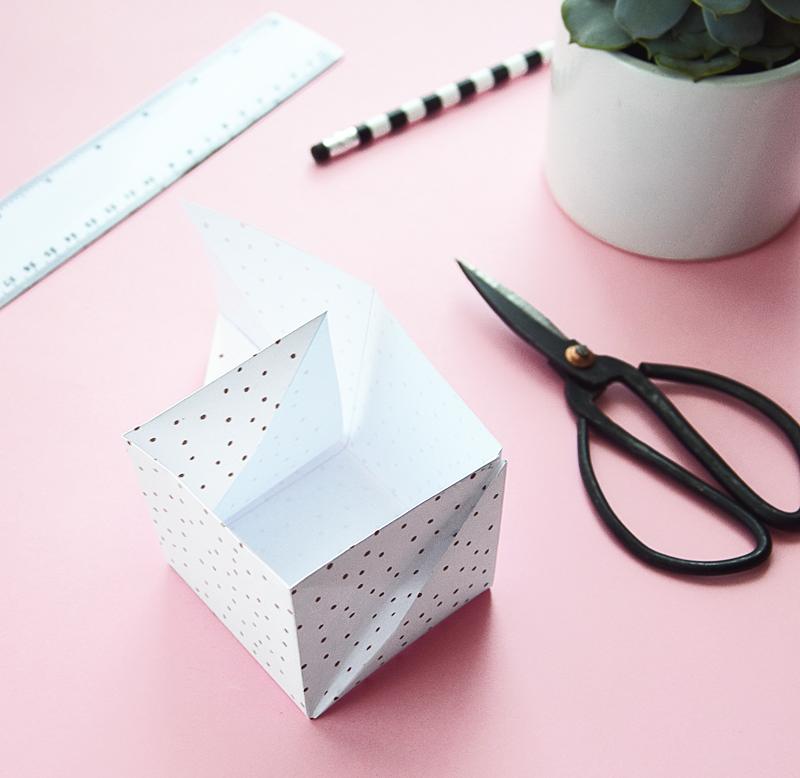 jak zrobic pudelko origami