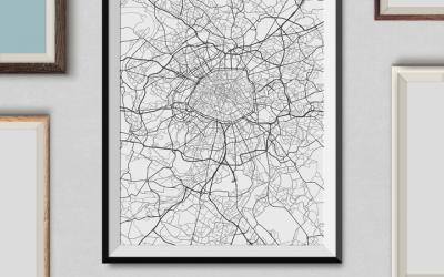 Plakat z mapą – jak go zrobić samodzielnie i za darmo?
