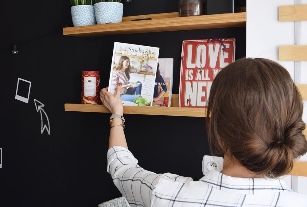 Wypędzanie nudy z kuchni, czyli metamorfoza ściany bez życia